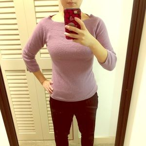 Kenzie lavender cashmere sweater